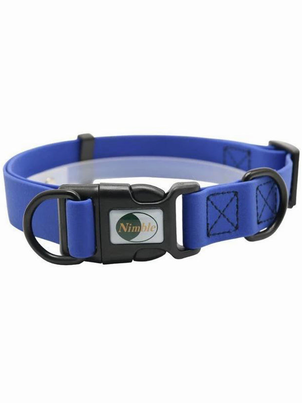 blue waterproof dog collar