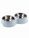 blue stainless steel dog bowl