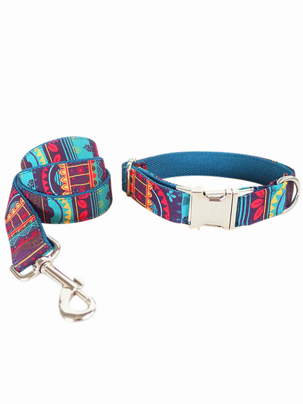 boutique dog collar and lead set