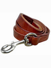 brown leather dog lead or leash