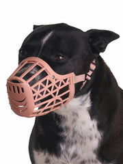 Soft adjustable Silicone Dog Muzzle in beige