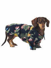 Spring and summer BBQ Hawaiian dog shirt