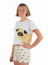 Womens Pug Dog Lovers Pyjama Set