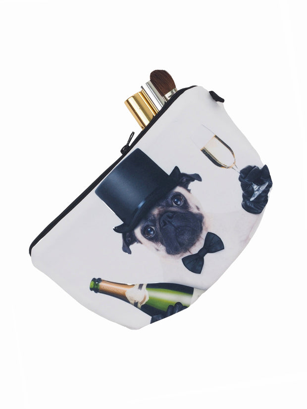 Polyester pug pouch bag for makeup