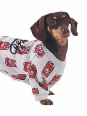 Duff Beer Simpsons themed Dog Sweater jumper