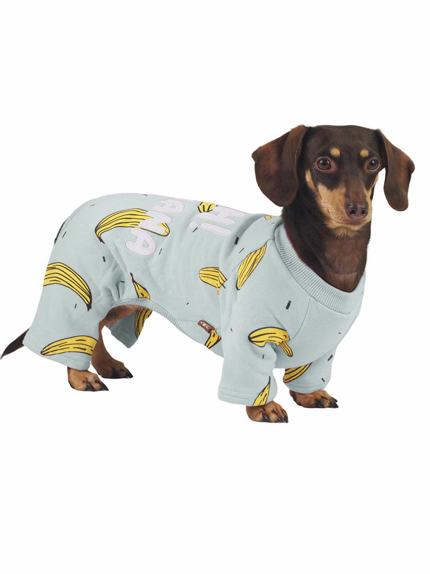 Cute banana dog pyjama pj onesie