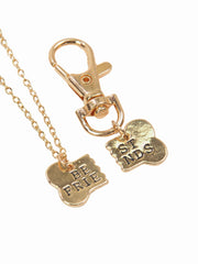 Matching best friends dog lovers necklace