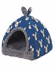 Affordable soft cave dog bed