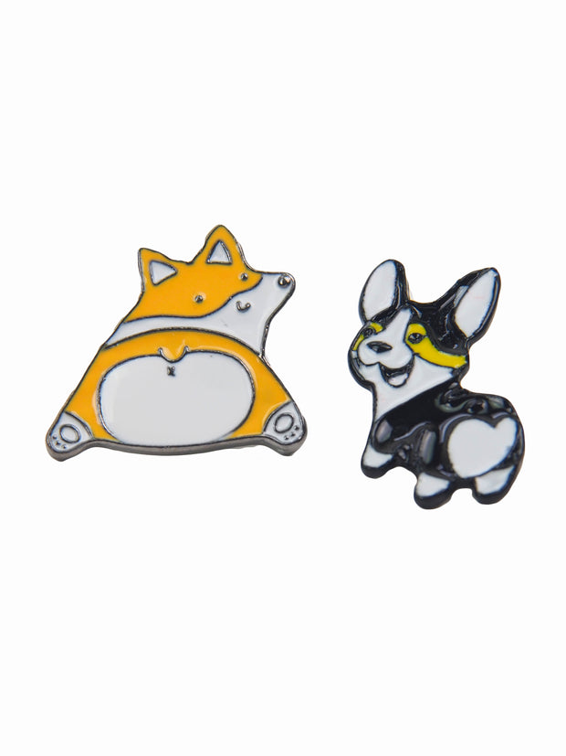 Affordable online dog lovers gifts - corgi butt lapel pin