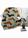 Affordable online dog lovers gifts dachshund fleece throw