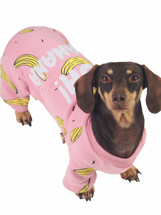 Adorable pink dog pyjamas and sleepwear
