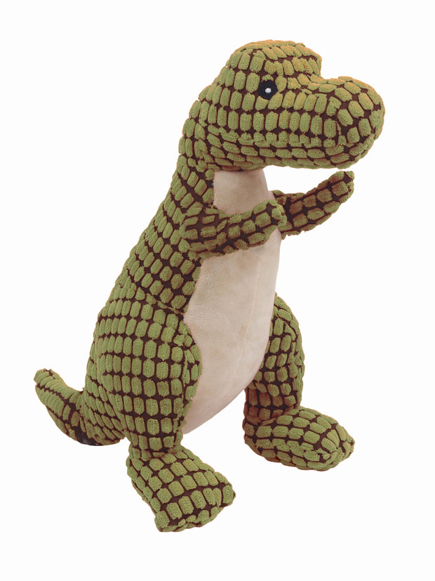 Extra large plush dinosaur dog toy with squeaker
