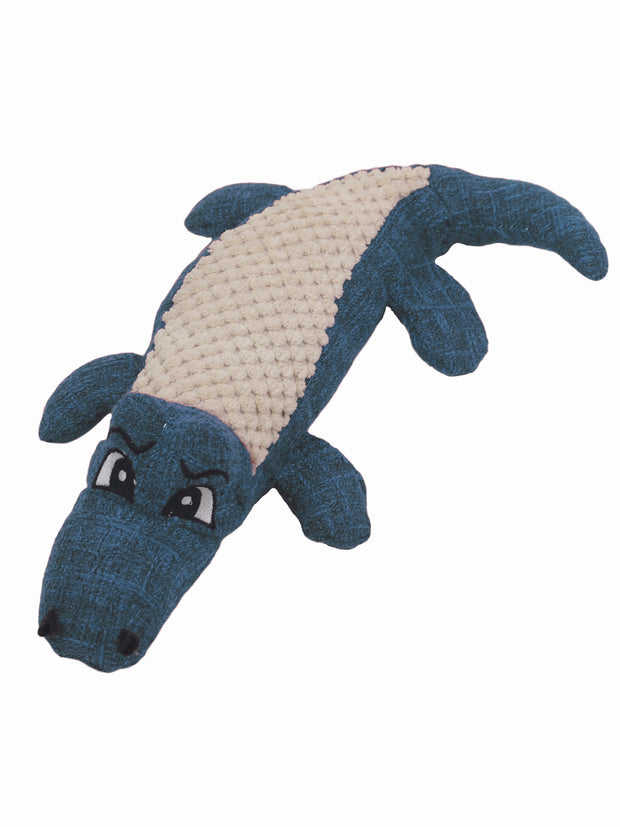 Cute plush crocodile dog toy