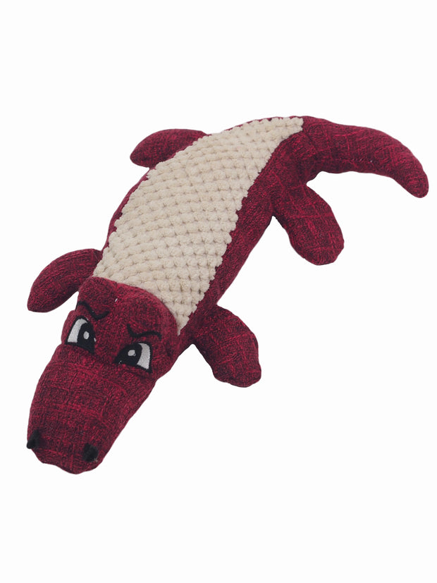 Plush Alligator Dog Toy