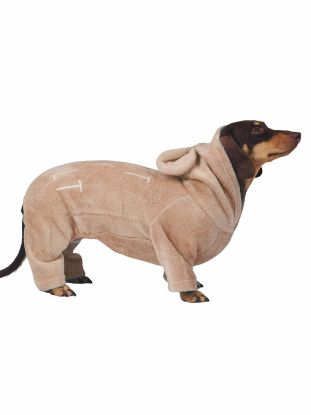 Cute dog pyjama onesie with hood