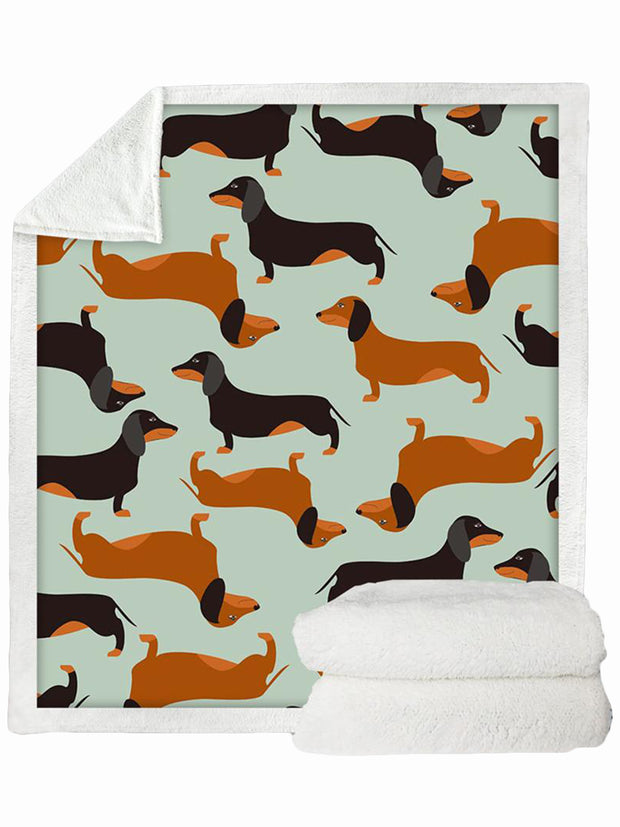 Dachshund Fleece Throw
