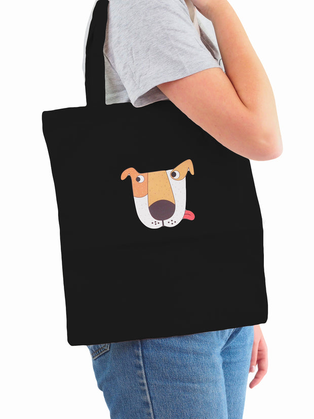 Best gifts for dog lovers black tote bag