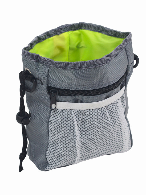 Dog treat adjustable shoulder pouch