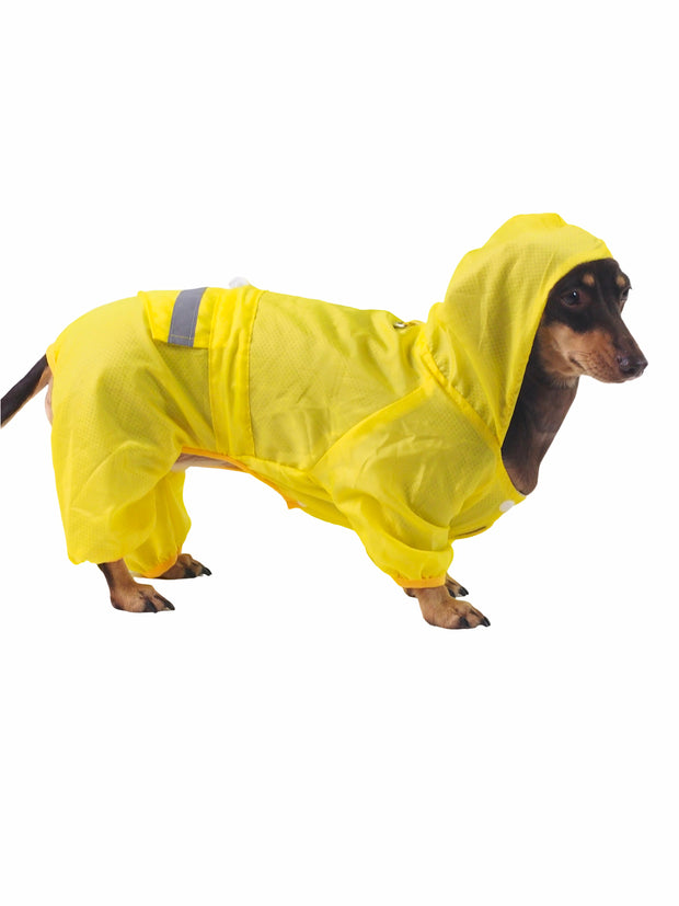 Hyper breathable reflective Dog Raincoat