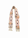 folk brown pattern dog collar