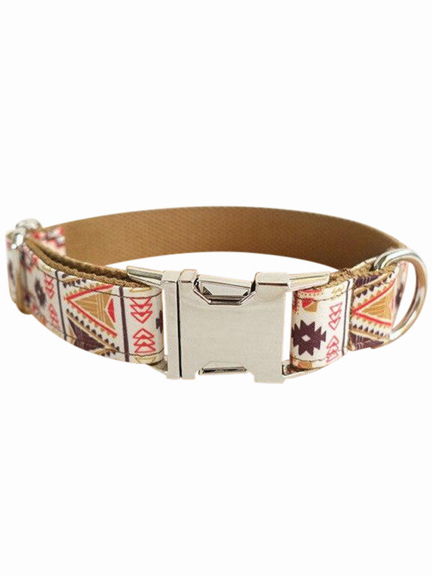 folk brown luxury dog collar