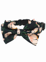 frangipani floral dog bow tie