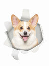 Funny corgi 3D wall sticker