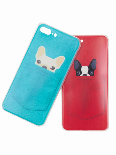 Peekaboo Silicone Dog Lovers iPhone Cases