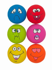 Funny Emoji Squeak Dog Toy (6pcs)