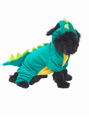 Green dragon onesie costume for dogs
