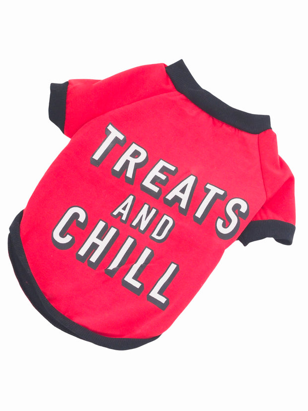 Cute treats and chill netflix themed dog sweater jumper