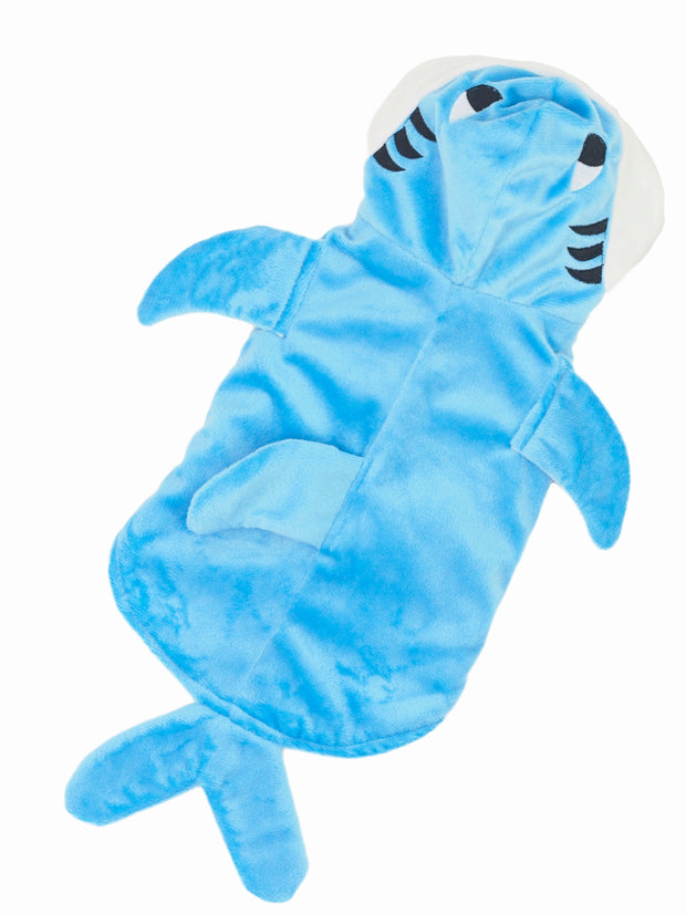 Cheap shark dog costume with plush lining