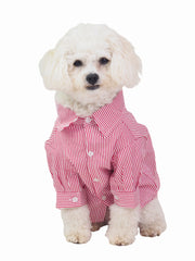 Pupper Striped Dog Business Shirt