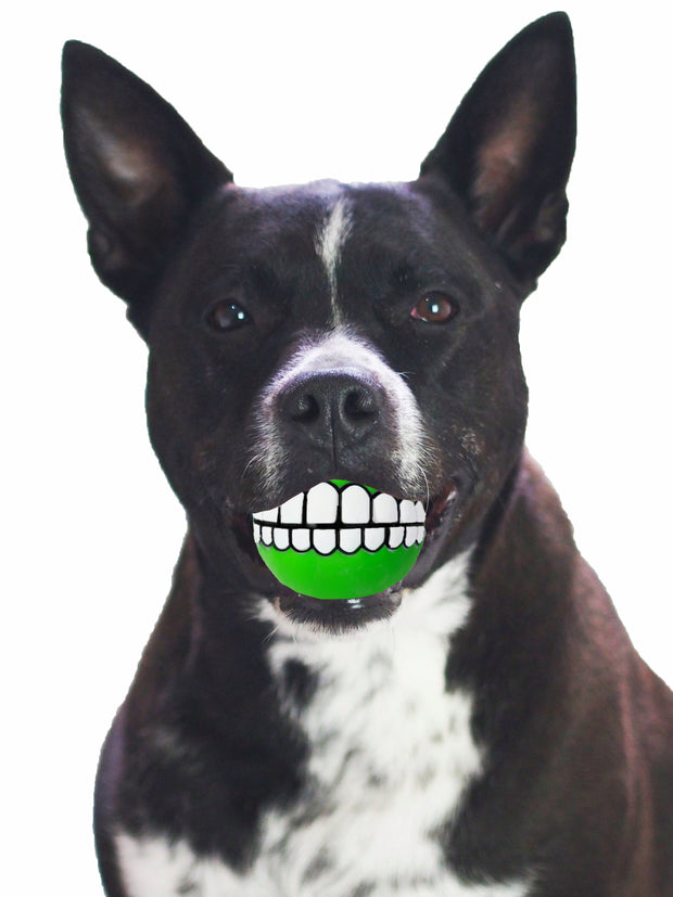 Chomperz Squeaker Funny teeth smile Dog Ball