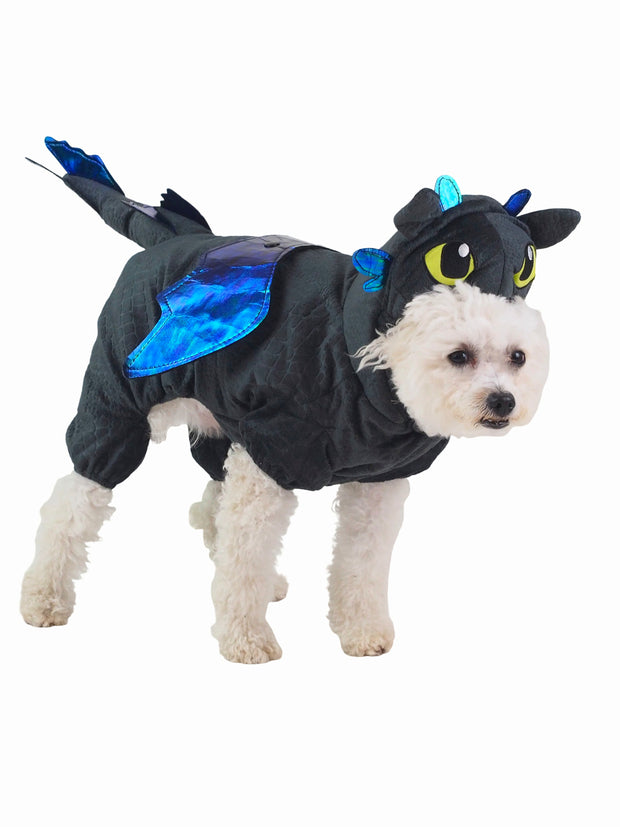 Toothless dragon dog costume with hoods and wings