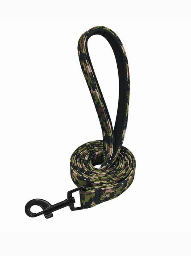green camo nylon dog lead