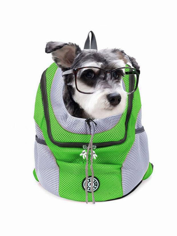 green mesh dog backpack