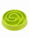 Green slow feeder dog bowl
