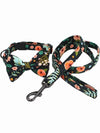 hawaii pattern dog bow tie collar lead set