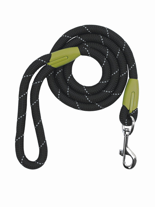 Reflective thread nylon dog lead