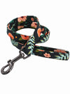 floral pattern luxury dog lead