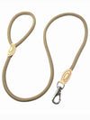 light brown nylon dog leash