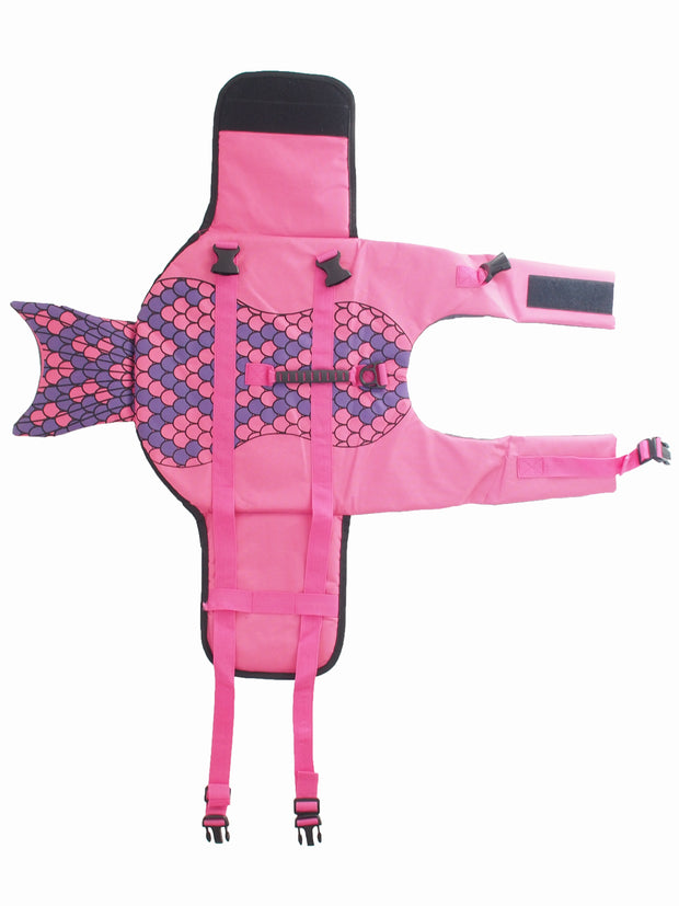 Funny mermaid dog lifejacket for summer