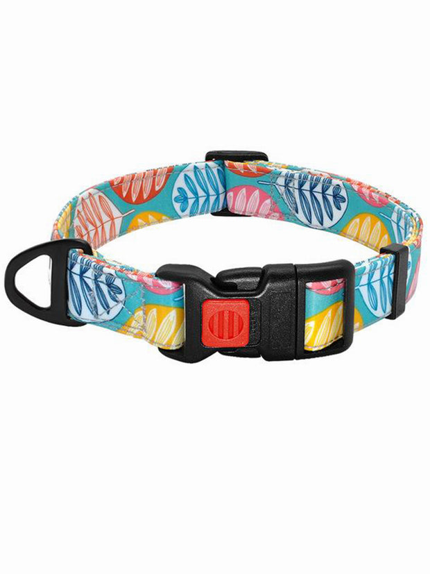 Monstera nylon dog collar