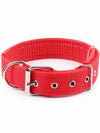 Red Adjustable Nylon Dog Collar