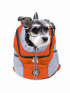 orange mesh dog bag