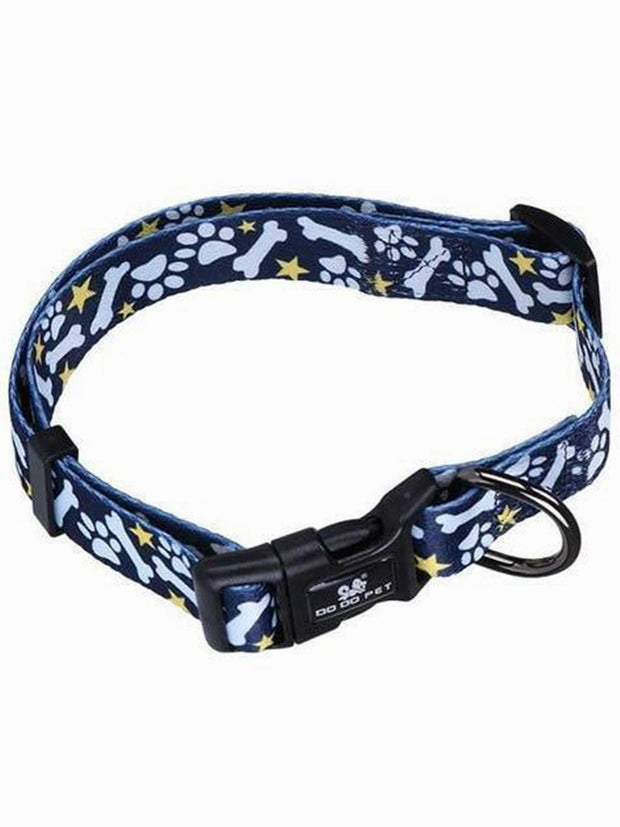 Paw pattern nylon dog collar