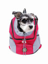 pink mesh dog travel bag