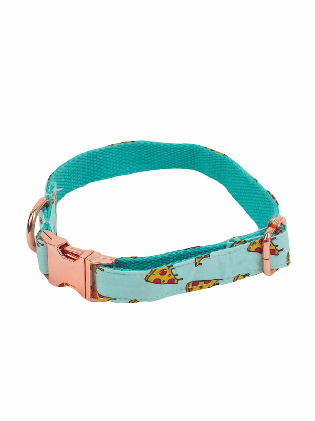 Fashionable pizza slice dog collar