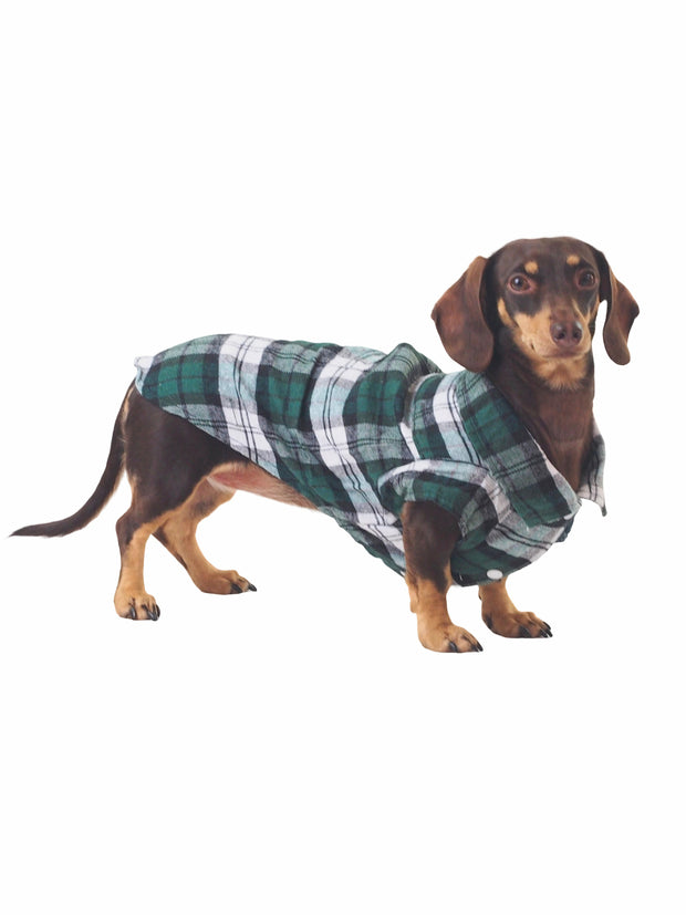 Lumberjack plaid Flannel Dog Shirt